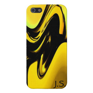 Gold And Black Pop Art iPhone 5 Case