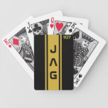 Gold and Black Racing Stripes Playing Cards Bicycle Playing Cards