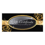 Gold and Black Salon Gift Certificate Rack Card