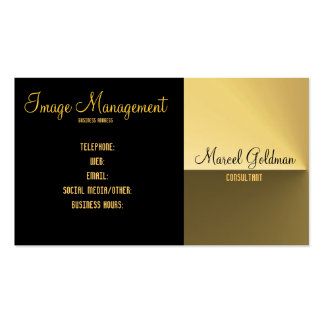 Gold and black satin business card