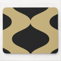 Gold and Black Smooch Mouse Pad
