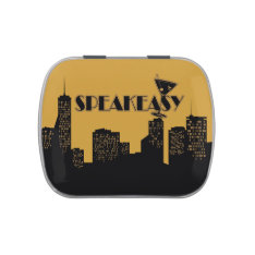 Gold And Black Speakeasy Party Favors Candy Tin at Zazzle