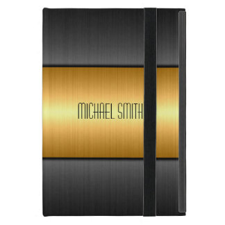 Gold and Black Stainless Steel Metal iPad Mini Cover