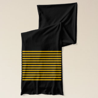 Gold and Black Stripes Scarf