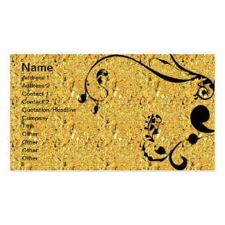Gold and Black Swirls Business Card Templates