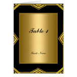 Gold and Black Table Placement Card and Menu Greeting Card