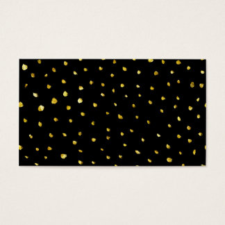Gold and Black Torn Dots Faux Foil Metallic Starry Business Card