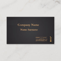 Gold and black velvety two-sided business card