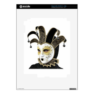 Gold and Black Venetian Carnivale Mask in Profile iPad 2 Decal