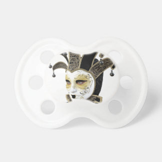 Gold and Black Venetian Carnivale Mask in Profile Pacifier