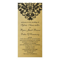 gold and black Wedding program