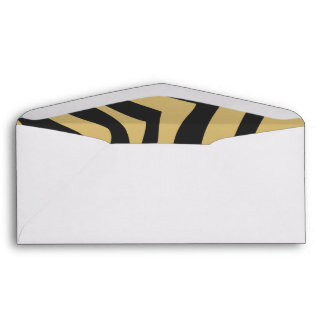 Gold and Black Zebra Stripes Pattern Envelopes