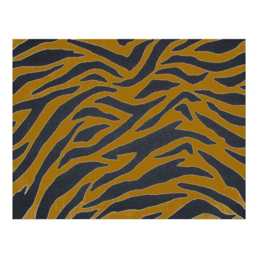 Zebra with gold stripes