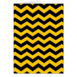 Gold and Black Zigzag Greeting Card