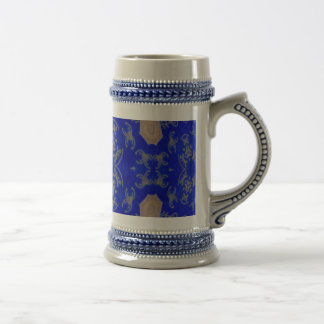 Gold and Blue Beer Stein