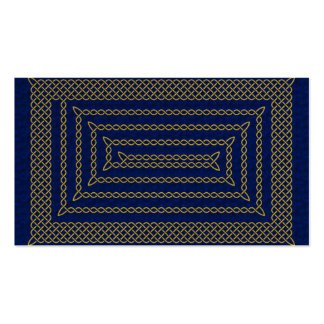 Gold And Blue Celtic Rectangular Spiral Double-Sided Standard Business Cards (Pack Of 100)