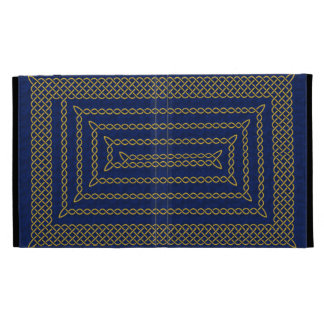 Gold And Blue Celtic Rectangular Spiral iPad Case
