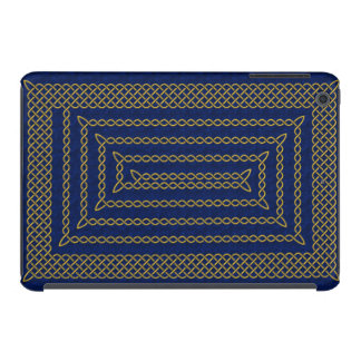 Gold And Blue Celtic Rectangular Spiral iPad Mini Retina Cover