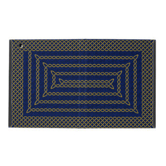 Gold And Blue Celtic Rectangular Spiral iPad Covers