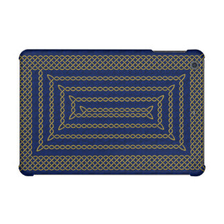 Gold And Blue Celtic Rectangular Spiral iPad Mini Case