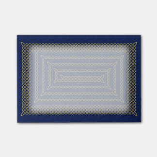 Gold And Blue Celtic Rectangular Spiral Post-it® Notes