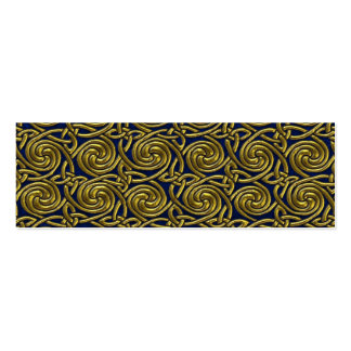 Gold And Blue Celtic Spiral Knots Pattern Business Card