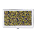 Gold And Blue Celtic Spiral Knots Pattern Case For Business Cards