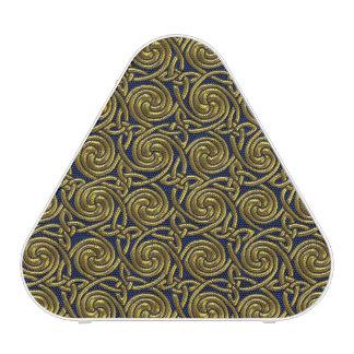 Gold And Blue Celtic Spiral Knots Pattern Speaker