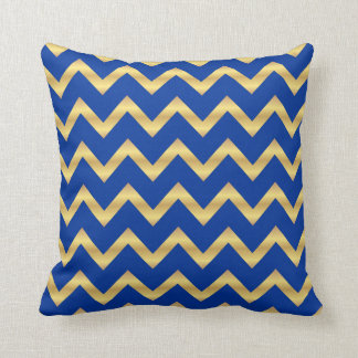 Blue and gold stripes pillows decorative throw pillows for Blue and gold pillows