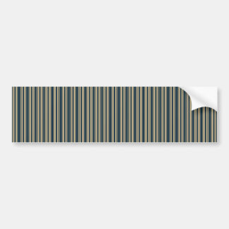 Gold and Blue Christmas Stripes Bumper Sticker