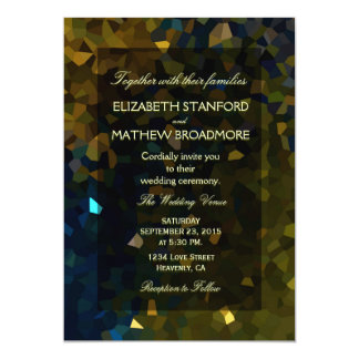 Gold and Blue Crystal Glitter Card