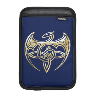 Gold And Blue Dragon Trine Celtic Knots Art Sleeve For iPad Mini