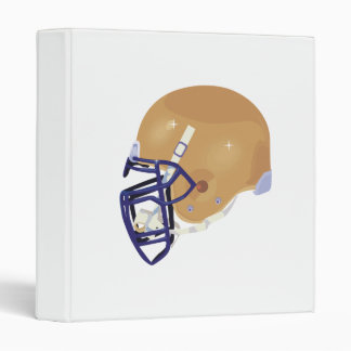 gold and blue football helmet vector graphic binder