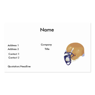 gold and blue football helmet vector graphic business card
