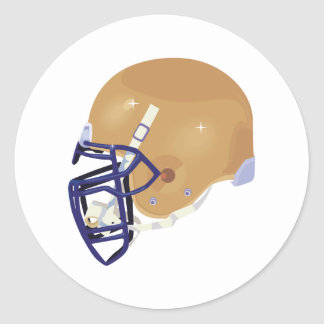 gold and blue football helmet vector graphic classic round sticker