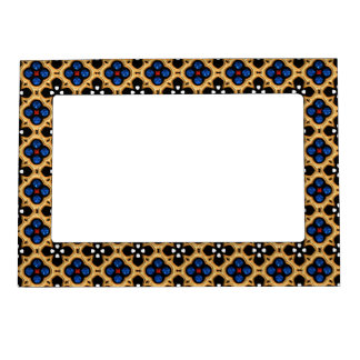 Gold and Blue Holiday Bling Magnetic Frame