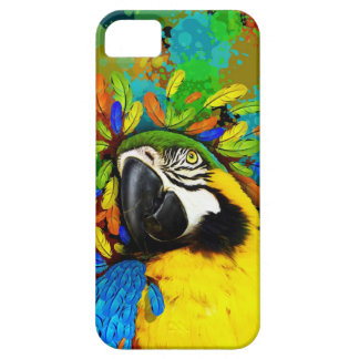 Gold and Blue Macaw Parrot Fantasy iPhone_5_Cases iPhone 5 Case