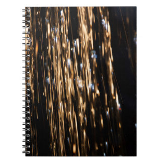 Gold and Blue Rain Notebook