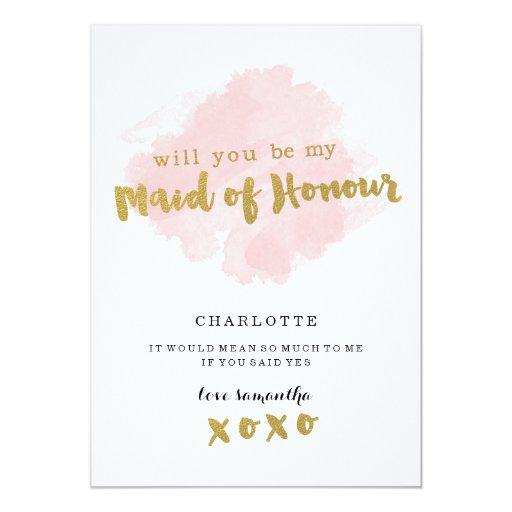 Maid Of Honor Invitation for nice invitations template