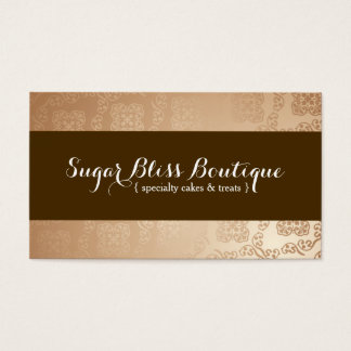 Gold and Brown Bakery Business Card