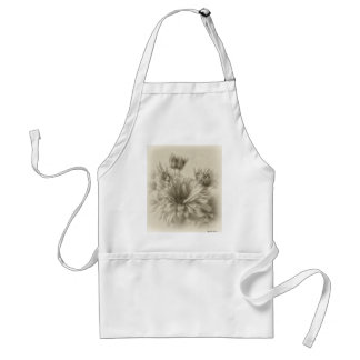 Gold and Brown Chrysanthemums 1 Antiqued Adult Apron
