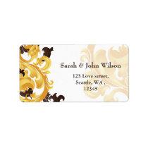 """""""gold and brown"""" elegance return address label"""