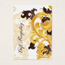"""gold and brown"" Gift registry  Cards"