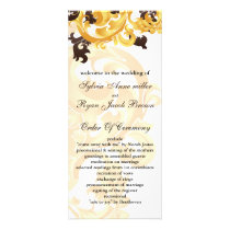 """gold and brown"" Wedding program"