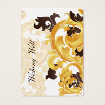 """gold and brown"" wishing well cards"