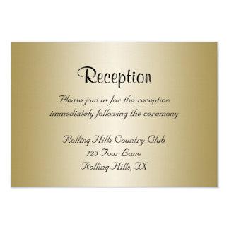 "Gold and Burgundy Damask Posh Wedding Reception 3.5"" X 5"" Invitation Card"