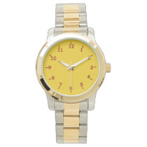 Gold and Burgundy Wristwatches