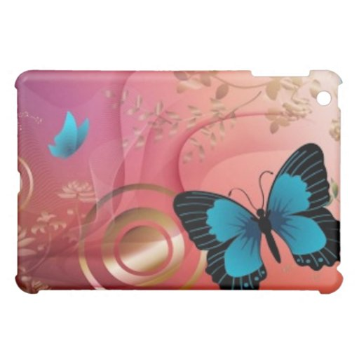 Gold and Butterflies iPad Mini Covers