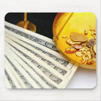 Gold And Cash Mousepads