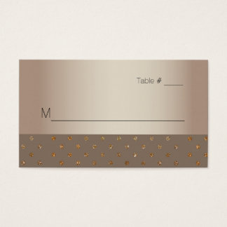 Gold and Champagne Wedding Escort Card